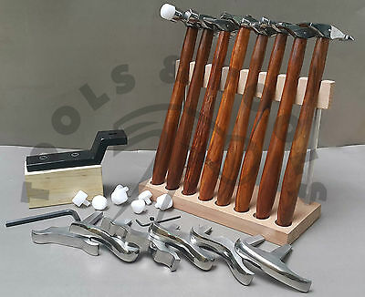 8 Texturing Hammer & 6 Miniature Stakes Designing Forming Jewelry Metal Repousse