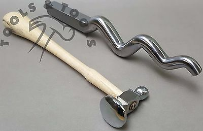 Polished Sinusoidal Stake 9'' With Dome Chasing Hammers 4 Sizes Jewelry Making