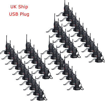 40pcs Walkie Talkies Retevis H-777 UHF 2-Way Radio USB Rechargeable 16CH 1000mAh