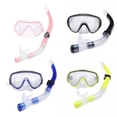 Swimming Snorkeling supplies Mask set with Semi-dry breathing tube Large view