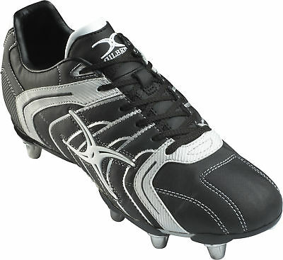 Clearance Line New Gilbert Rugby Mercury Junior Boots Black Silver Size 2