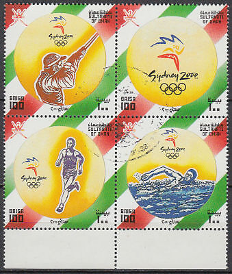 Oman 2000 used Mi.492/95 Zdr. Olympische Spiele Olympic Games [gb660]