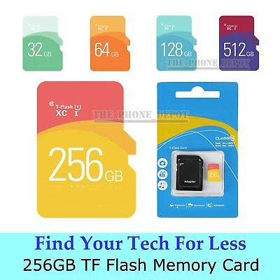 256GB TF Flash Card Micro SD Scheda di memoria memory Stick adattatore