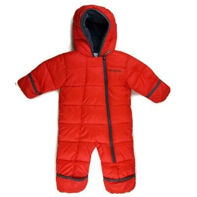 d6505c39d630 COLUMBIA BABY BUNTING Snow Suit 6-12 Months Boys Girls Red EUC ...