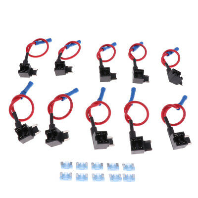 Pack of 10 Add-a-circuit ACN TAP Low Profile Blade Fuse Holder 15A