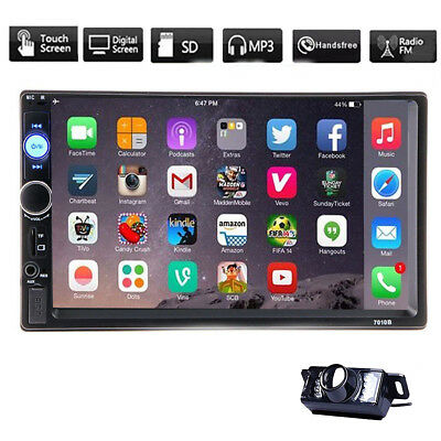 """7"""" HD Double 2DIN Bluetooth Touch Screen Car Radio Stereo MP5 MP3 Player no-DVD"""