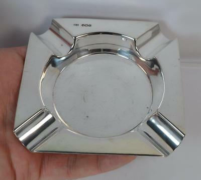 English Hallmarked Solid Silver Plain Ashtray