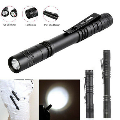 Mini LED Flashlight Pocket Clip Penlight Waterproof Tactical Lantern Torch Lamps