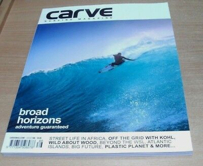 Carve surfing magazine #186 APR 2018 Andy Hughes, Wooden Boards, Fanning Retires