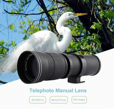 420-800mm F/8.3-16 Telephoto Zoom Lens for Canon Nikon Pentax Sony DSLR Camera$M