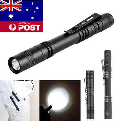 5PCS LED Flashlight Pocket Clip Penlight Waterproof Tactical Lantern Torch Lamps