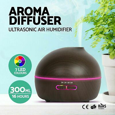300ML Aroma Diffuser Essential Home LED Oil Aromatherapy Air Humidifier Purifier