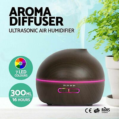 500mL Essential Air Mist Oil Aroma Diffuser Ultrasonic Humidifier Aromatherapy R