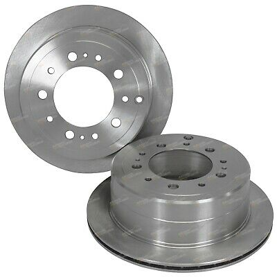 2 Rear Disc Brake Rotors suits Landcruiser HDJ100 UZJ100 98~07 4X4 UZJ100 HDJ100