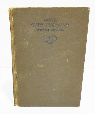 GONE WITH THE WIND - MITCHELL - 1ST EDITION 1ST JUNE 1936 PRINT w/ D/J CIVIL WAR