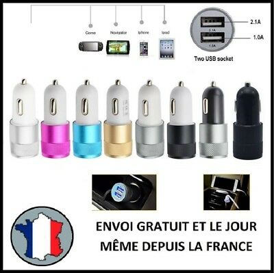 Prise 12V Double 3,1A Usb 2,1A 1A Allume Cigare Voiture Dual Chargeur Telephone