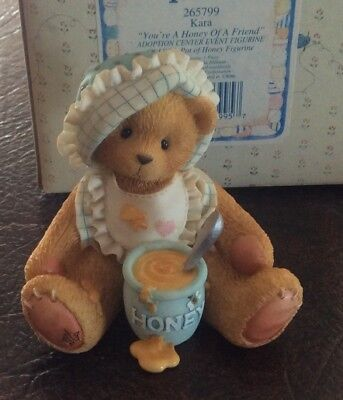 "Cherished Teddies Kara #265799 ""You're A Honey Of A Friend""  Adoption Cntr Event"