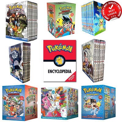 Pokemon adventures box set collection Encyclopedia Anime & Manga books Pack NEW