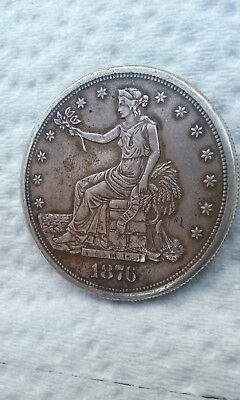 1876-S Trade Dollar, Seated Liberty, Great coin for the price!