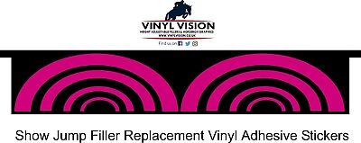 Show Jump Filler Replacement Vinyl Stickers, Equine, Horse, Graphics.