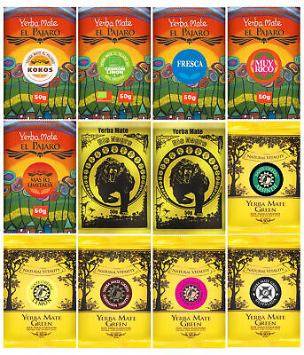 Mix Set of Various Types and Kinds of Yerba Mate Tea 10x100g (2x50g of each)