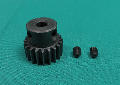 Module 1 1M-20T 20 Tooth Steel Pinion Gear 6mm Bore with 2 Set Screws