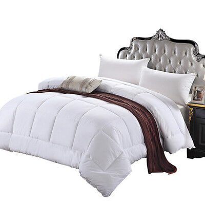 King Size Oversized Soft Fluffy Bedding Goose Down Feather Comforter