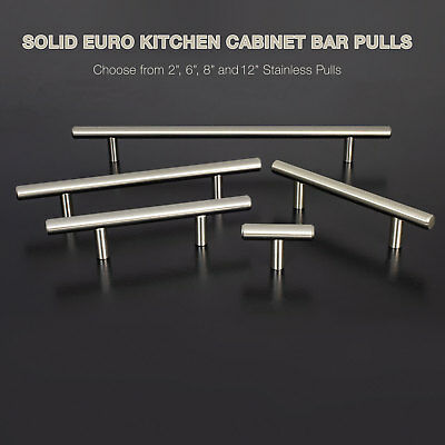 Cabinet Hardware 25 Pack T Bar Tube Pulls Stainless Steel Knobs