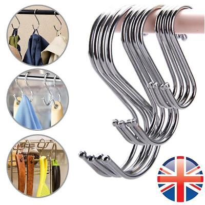 *UK Seller* 1~15X Stainless Steel S Hook Kitchen Meat Pan Utensil Clothes Hanger