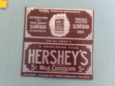"""1930's Hershey's Milk Chocolate["""" and Breakfast Cocoa candy wrapper."""
