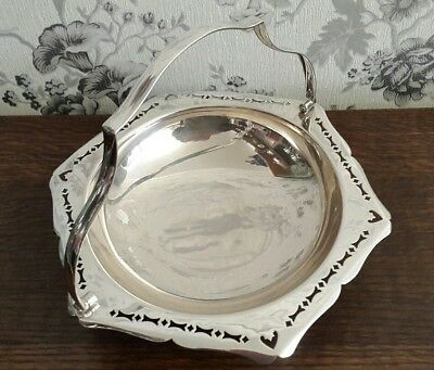 An Antique Silver Plated Swing Handle Bowl by Frank Cobb