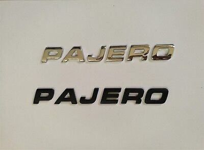3D PAJERO Emblem Badge Letters For Trunk Hood Door Car