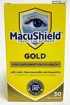 NEW MacuShield Gold Food Supplement Eye Health Care 90 Capsules 30 Days