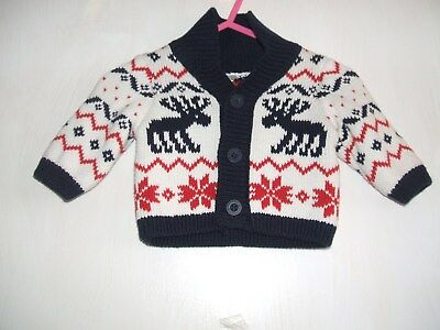 Baby Mothercare cardigan brand new rainders pattern new baby size