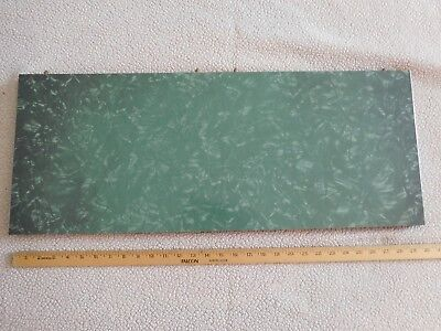 "Mid-Century Green Cracked Ice Chrome/Formica Kitchen Table Leaf 29"" x 11"" x 1"""