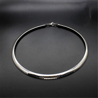 4/6/8mm Stainless Steel Silver Fashion Women Lady Charm Collar Choker Necklaces
