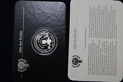 Dominican Republic 1982 UNICEF Year of the Child 10 pesos PROOF SCARCE A68 COV20