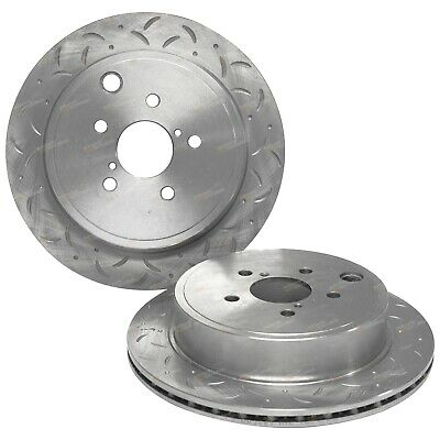 2 Rear Drilled + Slotted Disc Brake Rotors suit Subaru BRZ ZN6 2012-2015 Sports