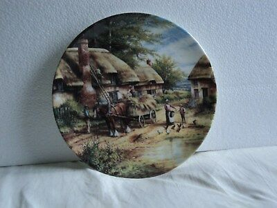 "Wedgwood Collectors Plate Country Days ""MENDING THE ""THATCH"" 8 in. diam."