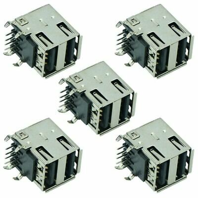 5 x Dual USB 2.0 Connector Type A Angled Socket PCB