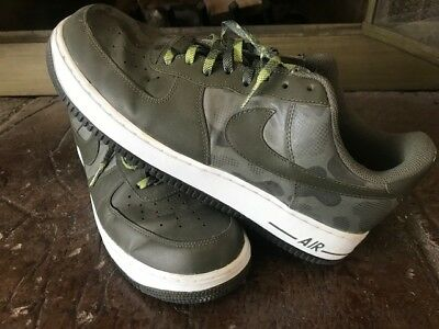 huge selection of 938c7 10603 EUC Nike Air Force 1 Mens Low Camo Green 488298-300 Athletic Sneakers US Sz