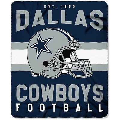 Dallas Cowboys NEW Licensed Fleece Throw Blanket Football Team 50'' X 60''