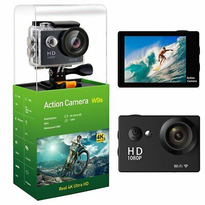 W9S FullHD 1080p 30 fps 12 MP Sport Action Cam Display WLAN
