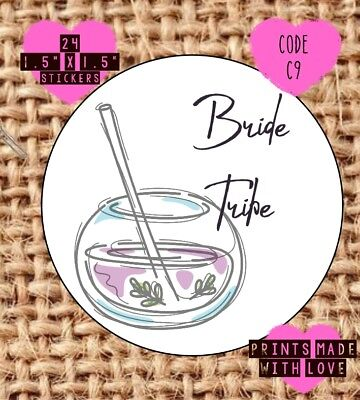 boho Personalised Hen party stickers bride tribe sk3 tribal skull