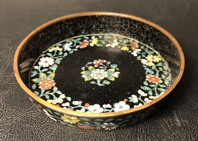 Antique Chinese Cloisonné Enamel Dish Tray