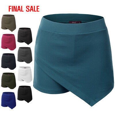 [FINAL SALE]Doublju Womens Bottoms Short Pants