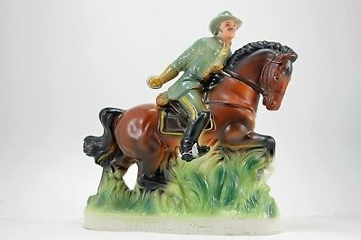 1969 Rebel Yell Kentucky Whiskey Decanter Confederate Soldier on Horse No Sword