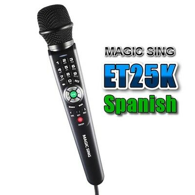Magic Sing ET25k Spanish English  Version Karaoke W/bag Binder 1570 +500