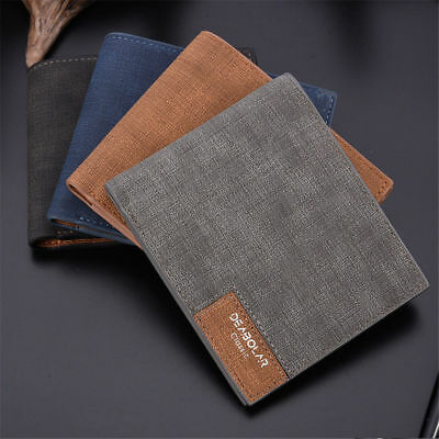 Men Genuine Fashion  Wallet RFID Bifold Slim Money Credit Card ID Holder Purse