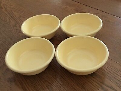 4 RUBBERMAID BUTTERCREAM Yellow Melamine Melmac Soup/cereal Bowls ...